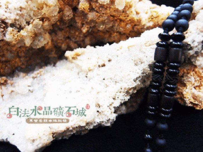 白法水晶礦石城    手工製作 黑瓷珠&木珠&金剛結& 黑色木桶 鍊寬6mm 項圈項鍊  首飾材料