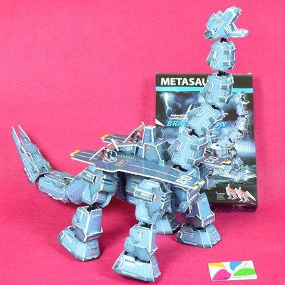 佳廷家庭 親子DIY紙模型立體勞作3D立體拼圖專賣店 機器人裝甲獸 航母巨雷龍 關節可動 麥克羅伯