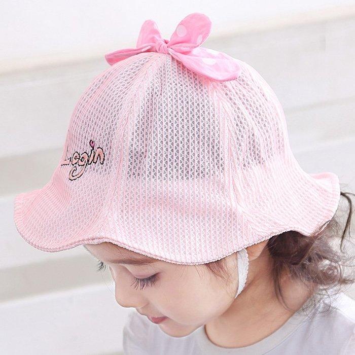 寶寶帽 春秋女 童遮太 陽帽1 -3歲 嬰兒帽 子夏季 薄款公 主涼防 曬漁夫 帽 帽子 防曬帽  兒童帽子 太陽帽 正韓