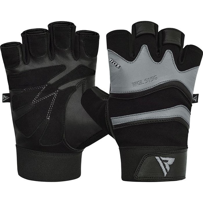 【線上體育】RDX GYM GLOVE LEATHER S15 GRAY RDX010