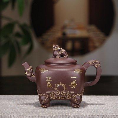 高鳴商城 宜興紫砂茶壺茶具 原礦紫泥一身正氣壺 功夫茶具定制 編號a005