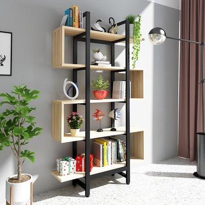 『i-Home』簡易兒童實木書架書櫃落地多層簡約現代北歐置物架客廳創意展示架