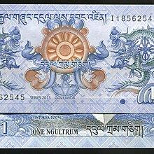 BHUTAN(不丹紙幣),P27,面額:1-NG,2013 ,品相全新UNC