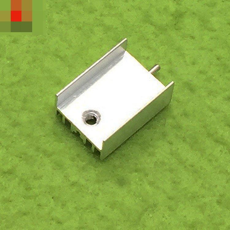 單腳散熱片 純鋁制 記憶體晶片 散熱塊單腳YK20 15*11*21 白色帶針 W313-2[364013]