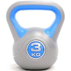 KettleBell運動3公斤壺鈴6.6磅競技3KG壺鈴拉環啞鈴搖擺鈴舉重量訓練重力健身C113-1803【推薦+】