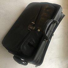 原價九萬 Dunhill登喜路 黑色皮質登機箱行李箱