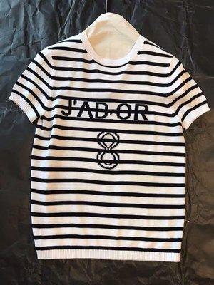 《巴黎拜金女》D家寬鬆百搭條紋T卹女打底衫薄款上衣