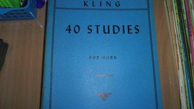 【媽咪二手書】KLING 40 STUDIES FOR HORN (CHAMBERS)  62FF