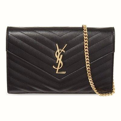 現貨*可刷卡可分期** 全新 Saint Laurent YSL WOC 黑色 大款 黑金 肩背包
