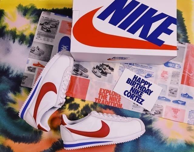 【豬豬老闆.】NIKE CLASSIC CORTEZ OG 45週年 紅白藍 尼龍 麂皮 阿甘女鞋 882258-101