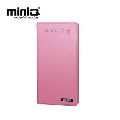 【3C工坊】miniQ Touch 12000+雙輸出觸碰式行動電源12000mAh胭脂粉