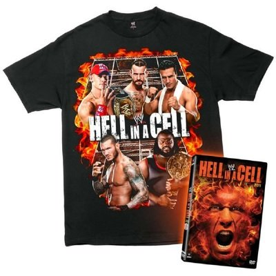 ☆阿Su倉庫☆WWE摔角 Hell in a Cell DVD/T-Shirt Package 地獄鐵籠超值組 出清中