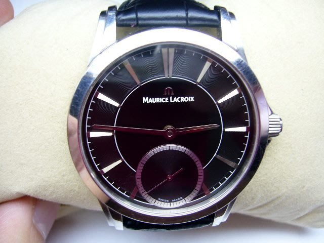 [吉宏精品交流中心]Maurice Lacroix 艾美 手上鍊 機械 皮帶 男錶