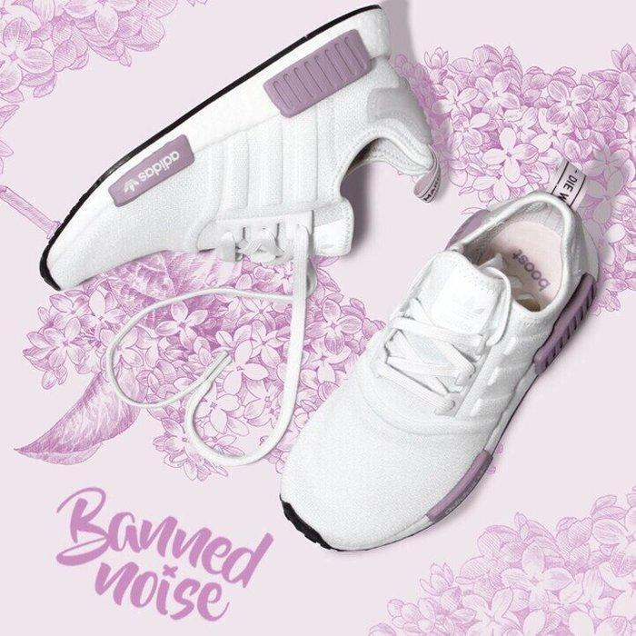 【Luxury】 Adidas NMD R1 PK BD8024 白粉 BD8026 編織 薰衣草 白紫 慢跑鞋 黑粉
