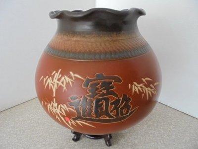 陶瓷聚寶盆 花器 手拉坯 新居 開幕 送禮 台灣鶯歌手工製造