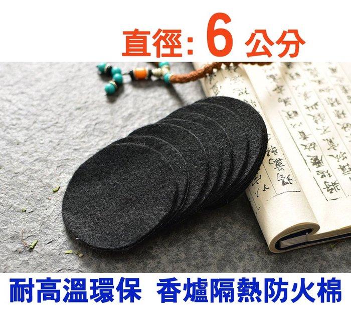 【準提無意間】3片$72 * 厚款 (直徑6cm) 圓形  隔熱棉+鋁箔  耐高溫環保 香爐防火棉墊 *盤香 塔香