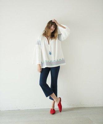 【三件7折】Banner Barrett  復古VINTAGE 墨西哥十字繡blouse