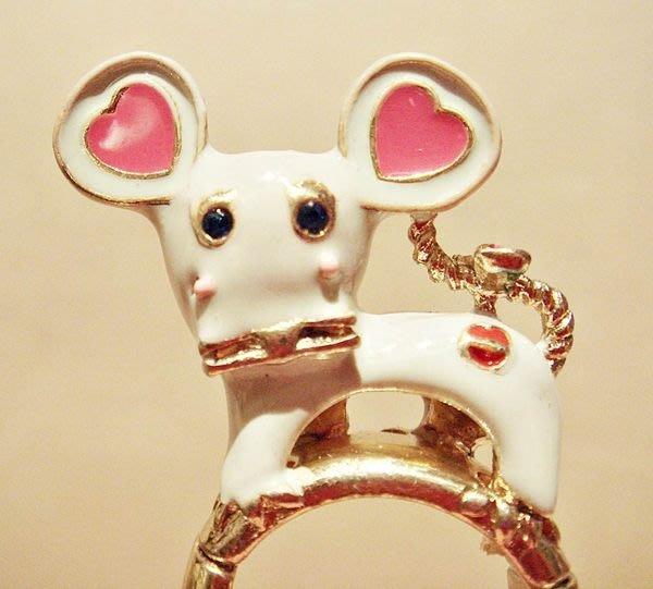 全新 高質感立體可愛老鼠造型戒指,低價起標無底價!本商品免運費!