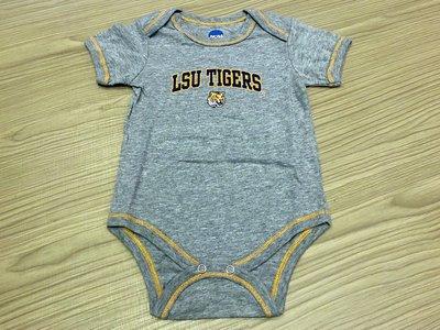 JFK 美國NCAA LOUISIANA STATE UNIVERSITY 幼童短袖連身裝 包屁衣 6-9m