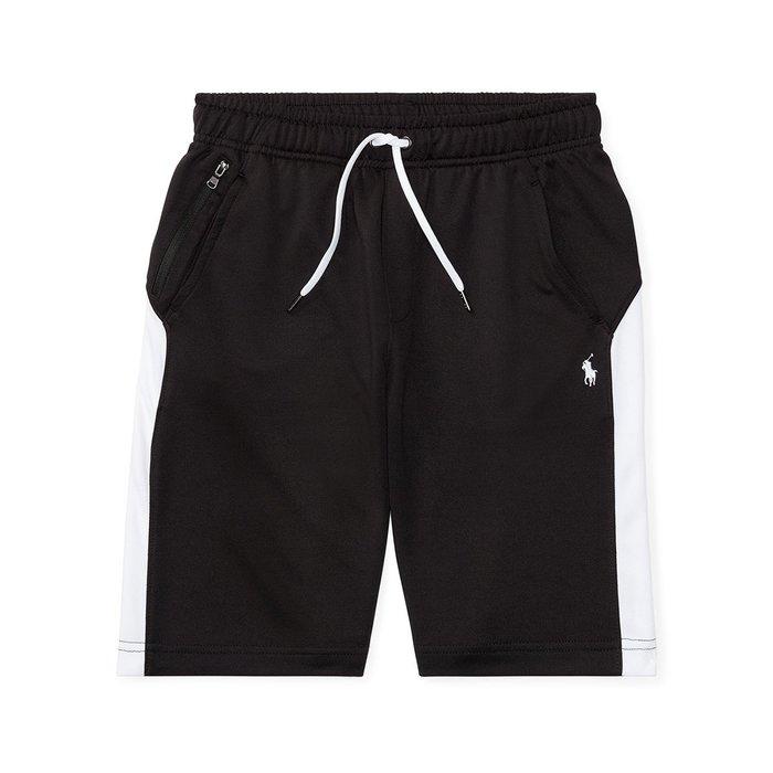 美國百分百【Ralph Lauren】運動褲 短褲 休閒褲 褲子 Polo RL 小馬 黑白色 XS S號 I147