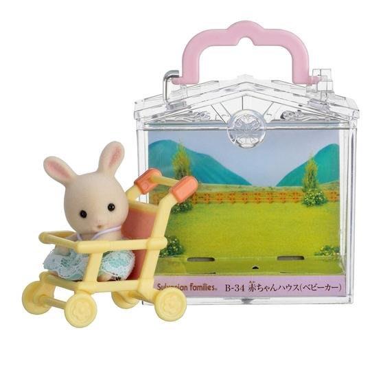 【3C小苑】EP27880 麗嬰 日本 EPOCH 森林家族 嬰兒車提盒 人偶 玩偶 扮家家酒 益智 玩具