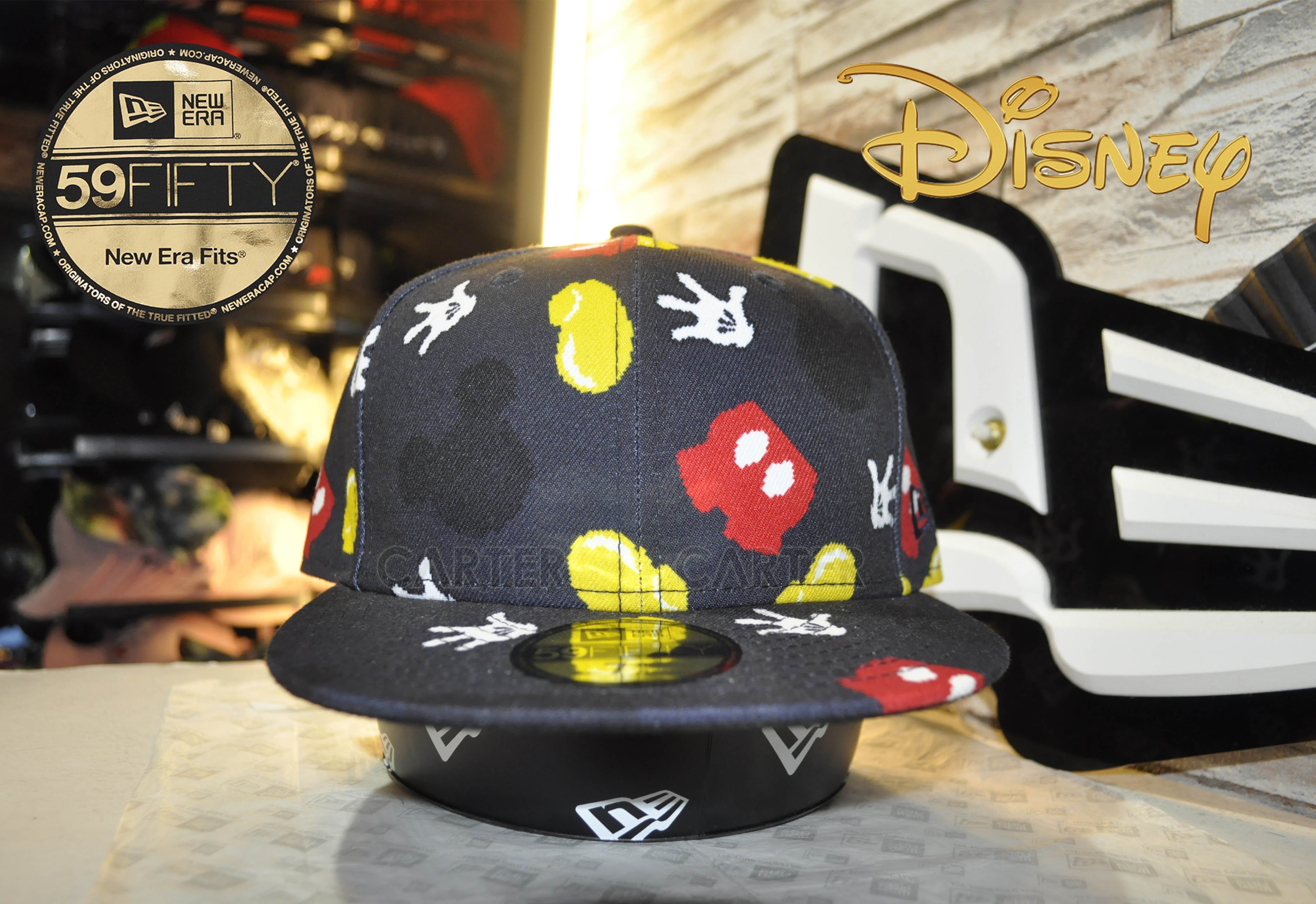 New Era x Disney Mickey Mouse Hand All Over 59Fifty 米老鼠印刷全封帽
