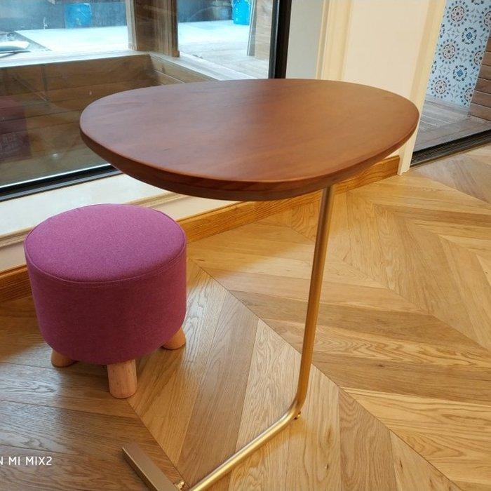尼克卡樂斯 ~簡約橢圓形實木小茶几 小茶几 展示桌 矮桌 小餐桌 床頭櫃 床邊桌 沙發邊几 床邊邊几