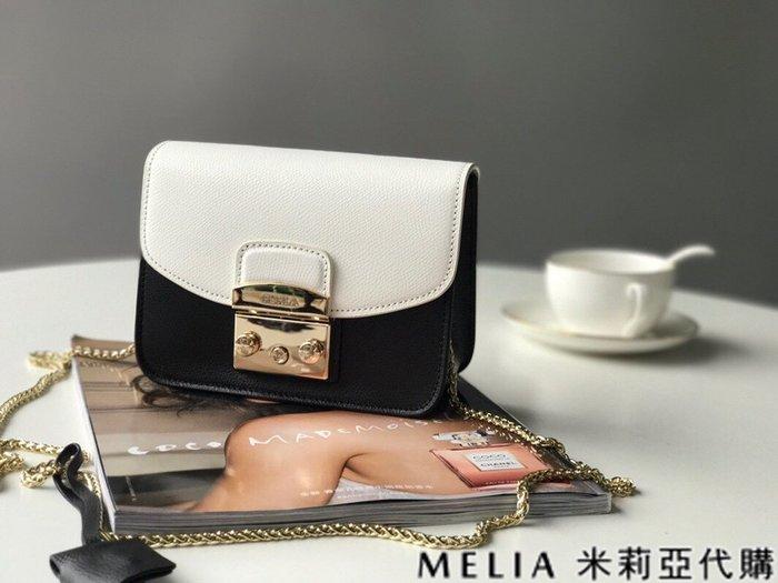 Melia 米莉亞代購 商城特價 數量有限 每日更新 FURLA 經典小方 淑女包 單肩斜背包 素色來襲 白拚黑