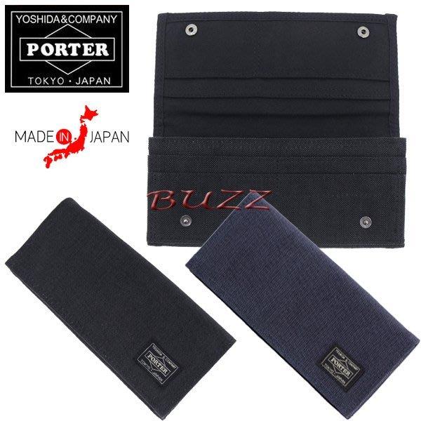 巴斯 日標PORTER屋-黑色 藍色現貨 PORTER SMOKY皮夾-長夾 592-06371