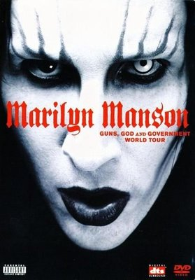 美版全新DVD~瑪莉蓮曼森樂團2001世界巡迴演唱會MARILYN MANSON GUNS, GOD AND GOVERNMENT WORLD TOUR