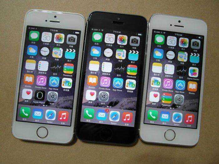 ☆寶藏點☆ 盒裝 iPhone5S 16G LTE 亞太4G可用《附旅充+保護套+9h保護貼》LINE 優惠免運Q32