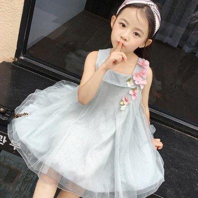 連身裙 寶寶公主裙 兒童裙子新款蕾絲網紗裙洋裝—莎芭