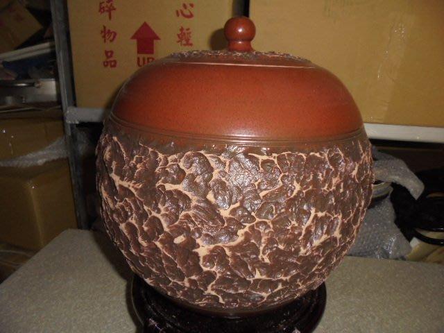 頂級紅土4號 約15斤 手拉坏 茶葉罐 普洱茶 罐 老茶 醒茶 米甕 聚寶盆 收納罐 #4亮面咖啡