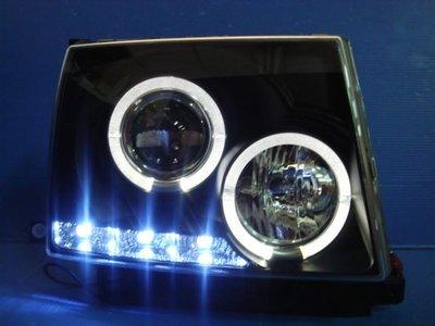 小亞車燈╠ 全新亮麗版豐田TACOMA黑框LED燈眉光圈魚眼大燈