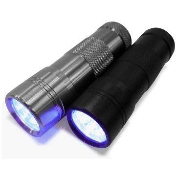 紫光驗鈔燈 超強 12LED 超大範圍 手電筒 驗鈔燈 鋁合金材質 驗鈔 防水 紫光 防偽燈