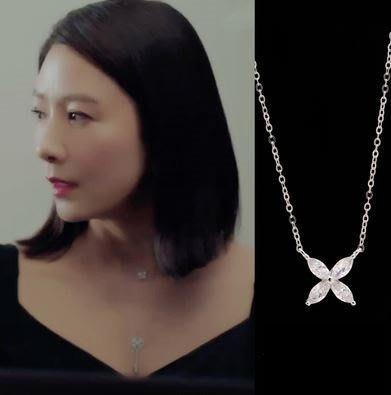 預購-韓劇同款夫妻的世界金喜愛池善雨同款耳環韓素希同款優雅氣質項鍊