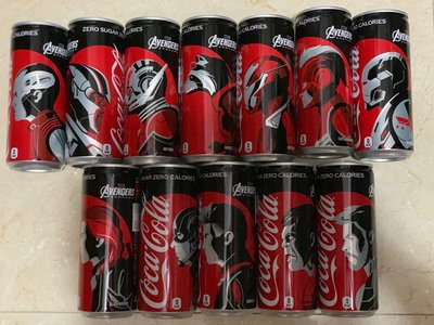 Coca Cola x Marvel Avengers End Game限量版 全套12罐