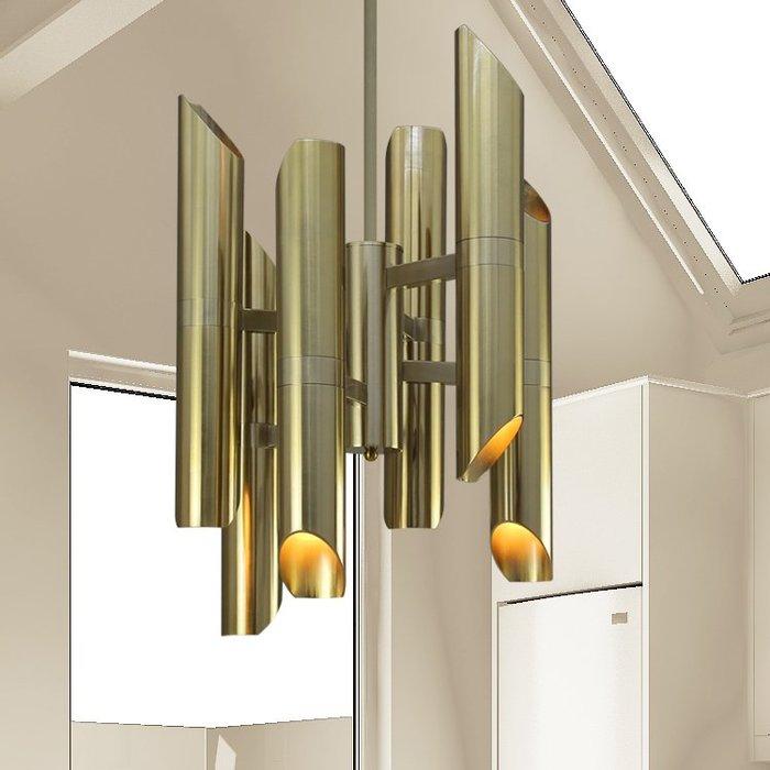 【58街】「鋁製夏德3D Model吊燈」極致典雅品味/燈具/美術燈。複刻版。GH-569