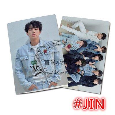 【【首爾小情歌】BTS FAKE LOVE 筆記本#JIN。防彈少年團 記事本 日記本 隨身手札 文具 周邊(藍色)