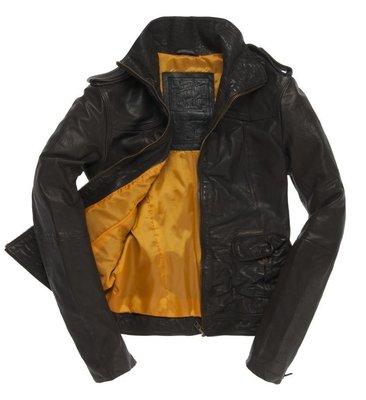 極度乾燥 Superdry Blake Skinny Leather jacket 真皮 合身 皮衣 外套 硬挺牛皮 S