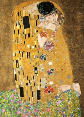 日本進口拼圖 名畫 Klimt 克林姆 吻 KISS 2000片拼圖 54-024