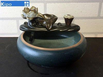 KIPO-熱銷陶瓷流水噴泉 開運加濕器 辦公室魚缸噴泉客廳招財裝飾品擺飾-EAJ004104A