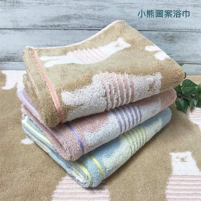 【樂活先知】『代購』 日本  今治毛巾 認證   毛巾  浴巾  小熊圖案浴巾3件34x80cm