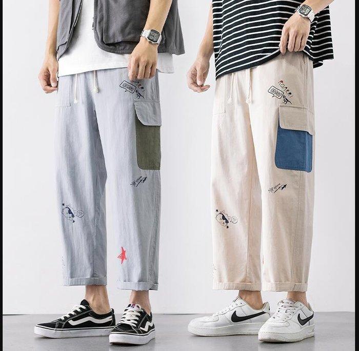 FINDSENSE X 男士休閒 短褲 多袋 速幹運動男式  短褲 九分褲工作