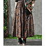 【子芸芳】民族風碎花半身裙文藝復古雙層飄逸半身長裙