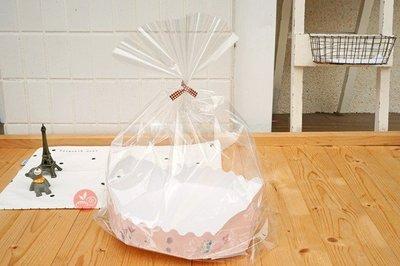 8吋蛋糕包裝禮袋_花漾小姐_10入/包_SC990019◎蛋糕.麵包.餅乾.甜點.包裝.包裝袋.透明.含內襯