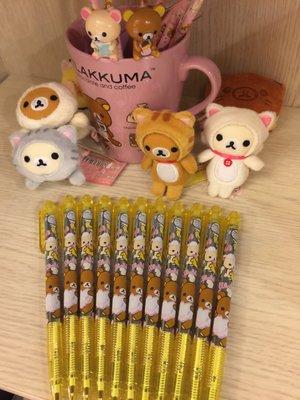 韓國製 買五送一 Rilakkuma 拉拉熊 S-nax 藍色原子筆 香水鉛筆橡皮擦 現貨大特價 另售達菲 毛怪商品