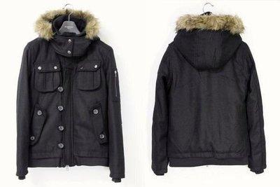 【全面特價】日本品牌suggestion 頂級N-2B連帽羊毛厚實鋪綿軍裝外套短大衣