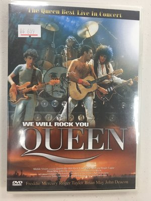 Queen we will rock you DVD DTS版,全新未拆