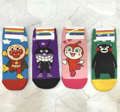 韓國直送 超可愛麵包超人 熊本熊造型女襪子 時尚 正韓 短襪 腳踝造型襪 運動襪 學生襪 棉襪